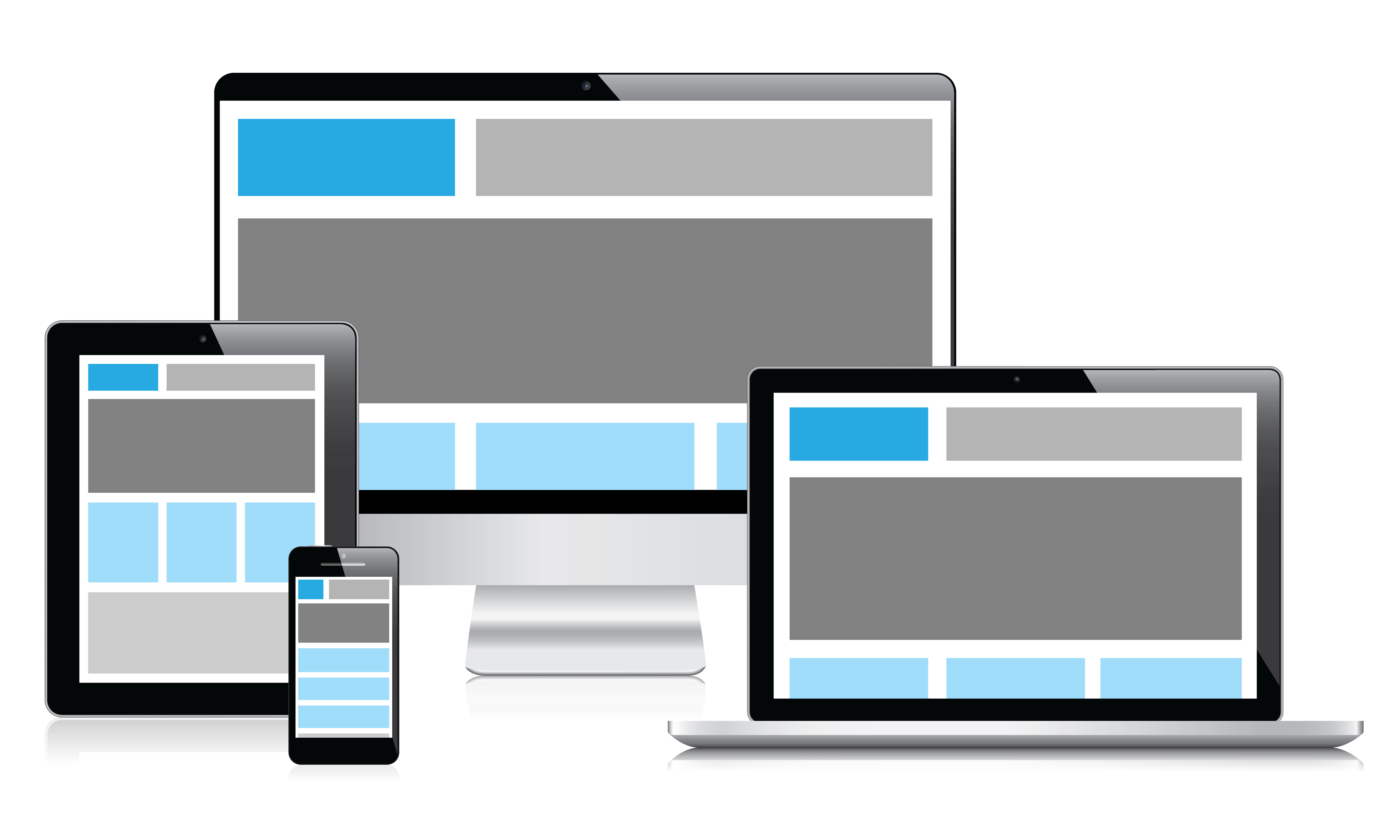 Example of a responsive web page example